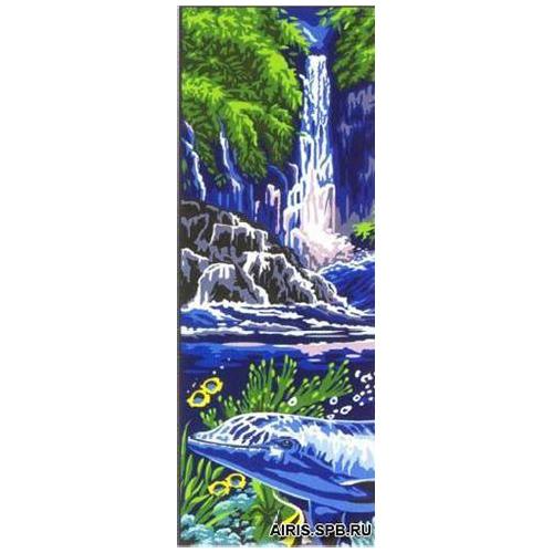 MRC62-208 Канва с рисунком MARGOT 'Водопад' 25*60 см