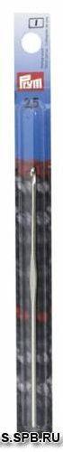 175838 Крючок IMRA Record для тонкой пряжи , сталь, с направляющей площадью, 2,5 мм, Prym