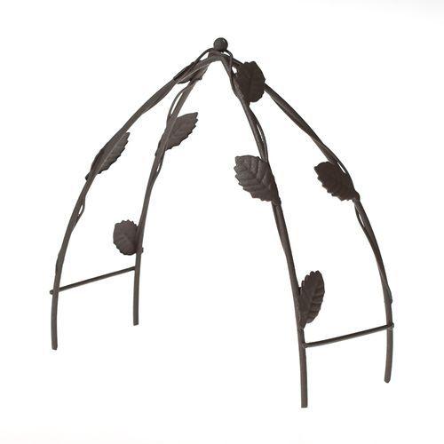 Металлический садовый мини трельяж, коричневый, 10*5,5*11,8 см