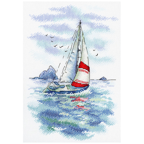 А-009 Набор для вышивания МП Студия 'Морская регата'25*18см