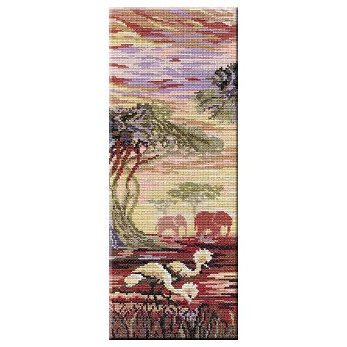 НВ-194 Набор для вышивания 'МП Студия' 'Триптих 'Слоны' 1 часть', 38х15 см