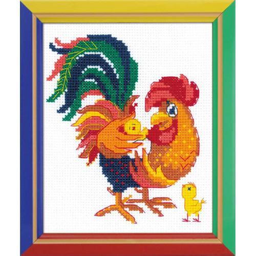 НВ-151 Набор для вышивания Riolis 'Папины детки', 13*16 см