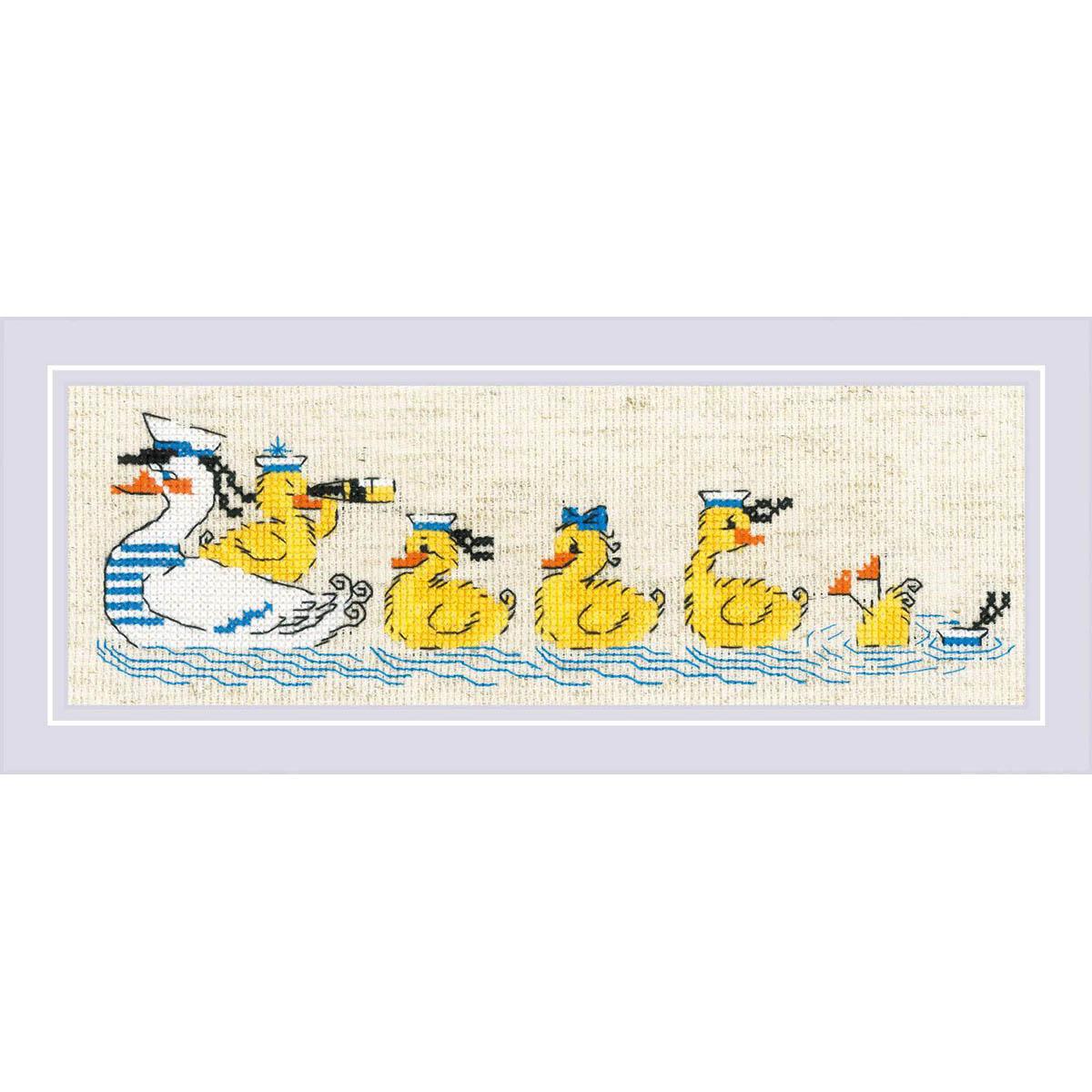 1865 Набор для вышивания Риолис 'По морям, по волнам'24*8см