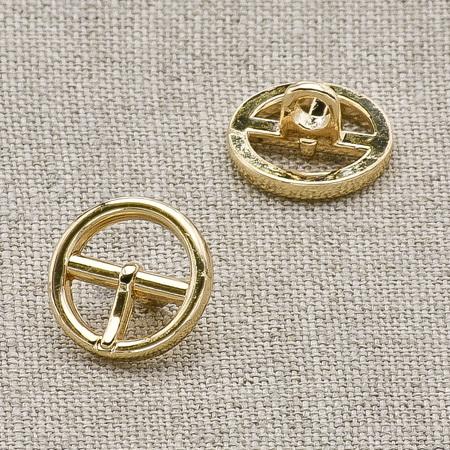 Пуговица металл ПМ22 10мм золото пряжка, 2135001249122