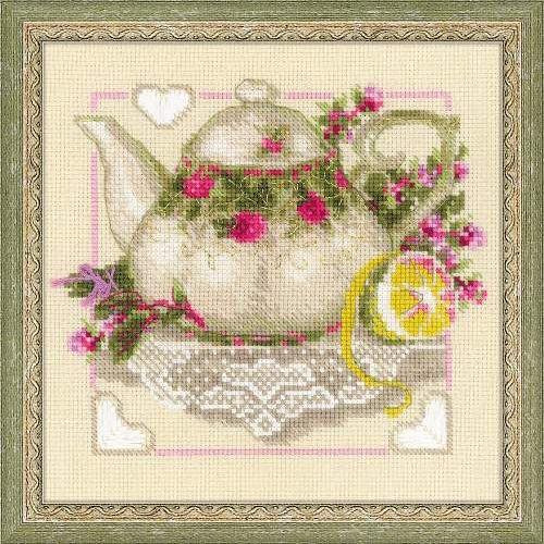 1477 Набор для вышивания Riolis 'Чай с лимоном', 20*20 см