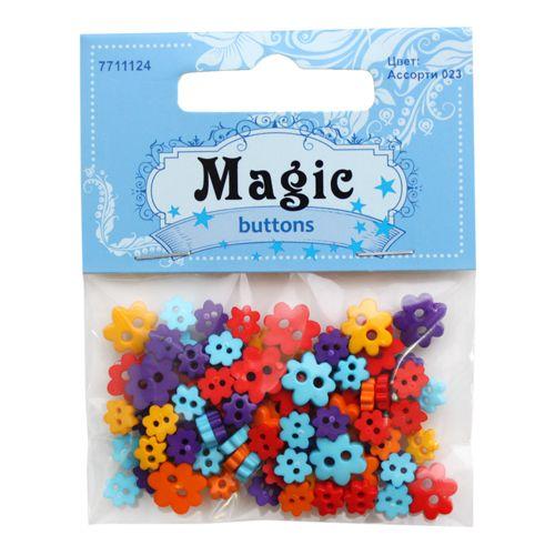I1435-38 Набор пуговиц 'Цветы', упак./5 г, Magic Buttons