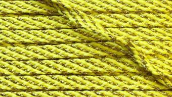 Шнур желтый с золотом 6мм уп*10м, 2135001197171