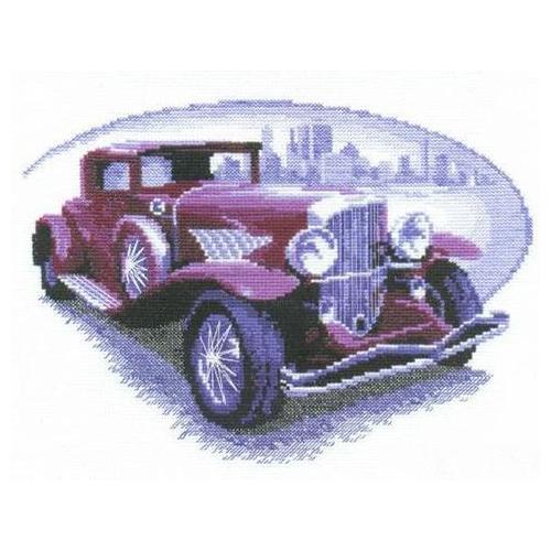346 Набор для вышивания 'Чарівна Мить' 'Ретро-автомобиль', 29*21 см