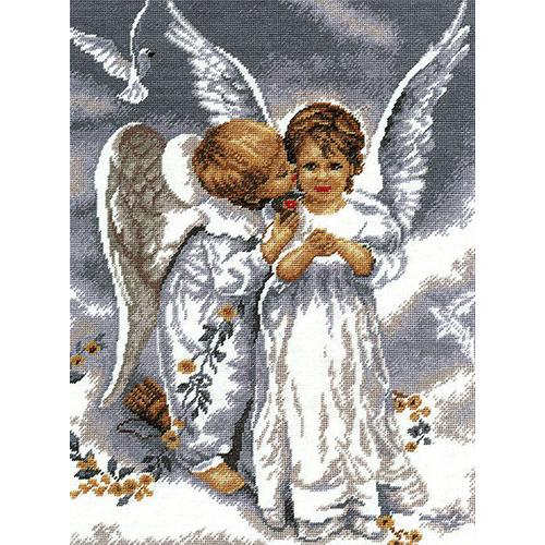 682 Набор для вышивания Hobby&Pro 'Два ангела', 24*32 см