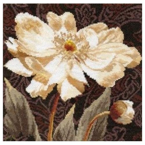 2-18 Набор для вышивания АЛИСА 'Белые цветы. В объятиях света' 25*25см