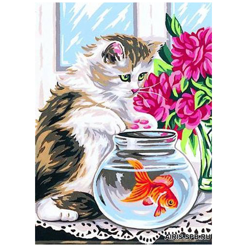 MRC722-214 Канва с рисунком MARGOT 'Ловись рыбка' 30*40 см