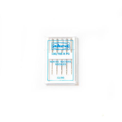 Иглы АКРА для быт./шв. маш. для лайкры и синтетики FG № 80 (5игл)