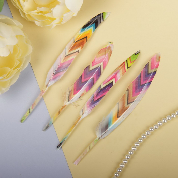 2057922 Набор перьев для декора 4 шт