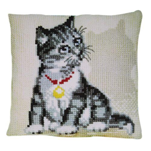 003.083 Подушка Pako 'Серый котенок', 40х40 см