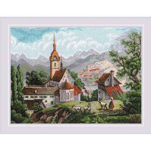 1701 Набор для вышивания Риолис 'Монастырь Шоненверт' по мотивам гравюр XIX века' 40*30 см