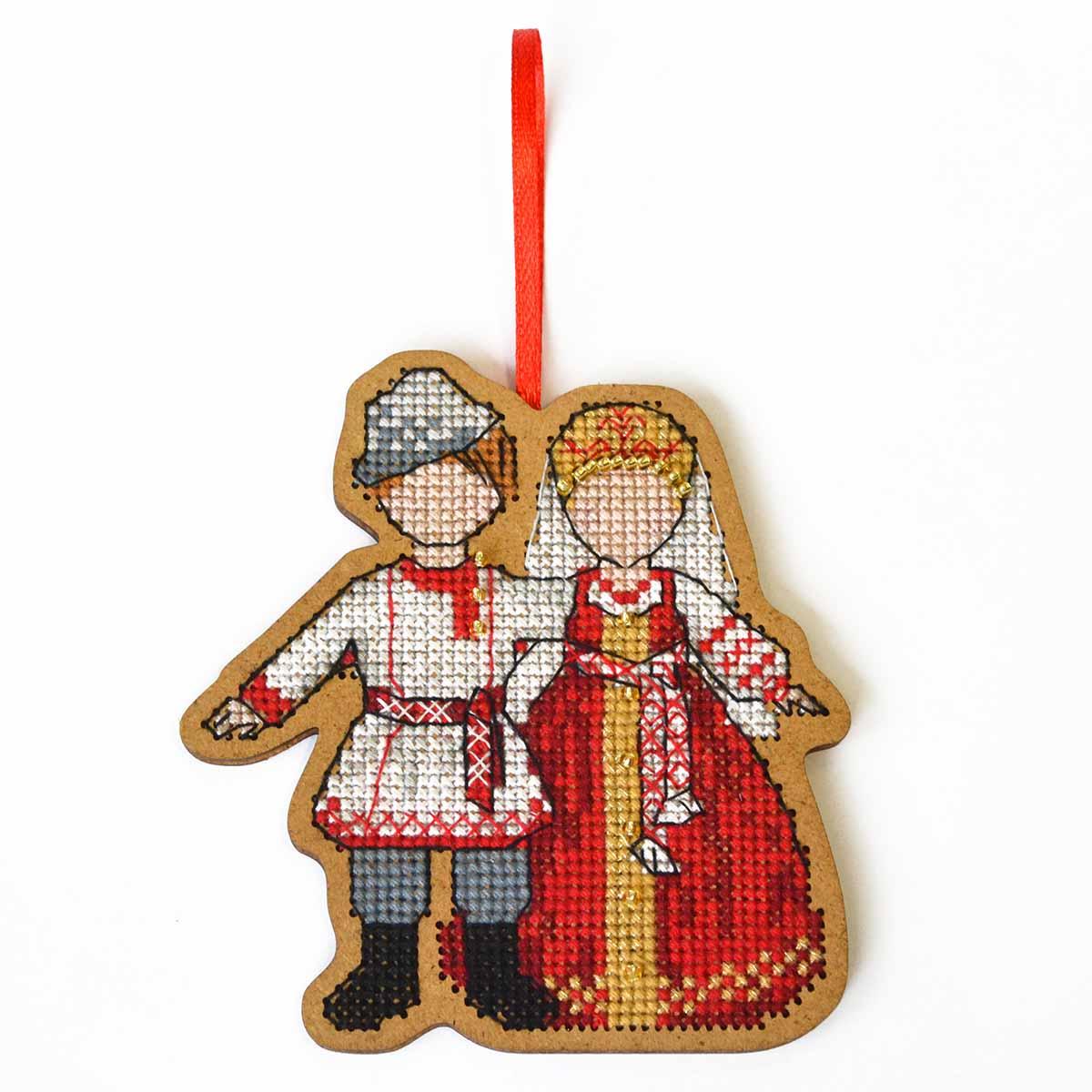 О-106 Набор для вышивания крестом на основе Созвездие 'Символ любви и семьи. Неразлучники' 9*8,5 см