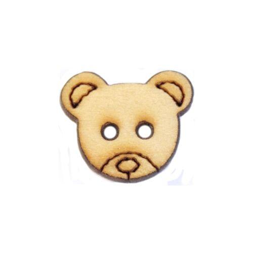 BUTT12558 Пуговица 'Мишка' деревянная