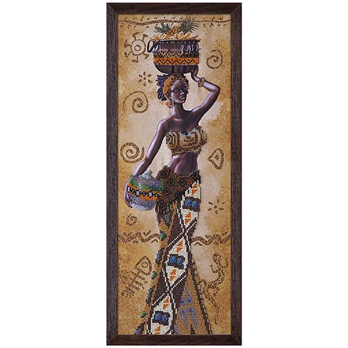НД2078 Набор для вышивания бисером 'Африканка с фруктами'18 x 51см