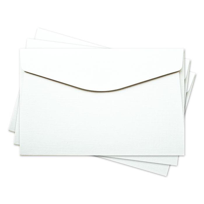 ОКО2101 Конверт для открытки 11х17 см КОМПЛ. 3шт Цвет: белый Фактура 'Лён'