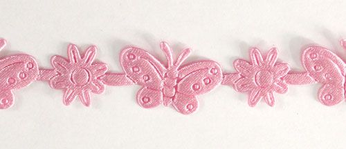 YH14 Лента фигурная 'Бабочки', 17 мм*25 м