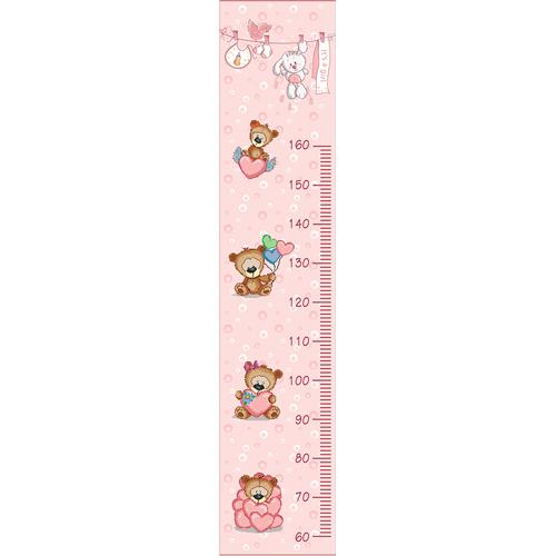 1839/Н Набор для вышивания (частичный счётный крест) Матренин Посад 'Мишки-малышки' 41*150см