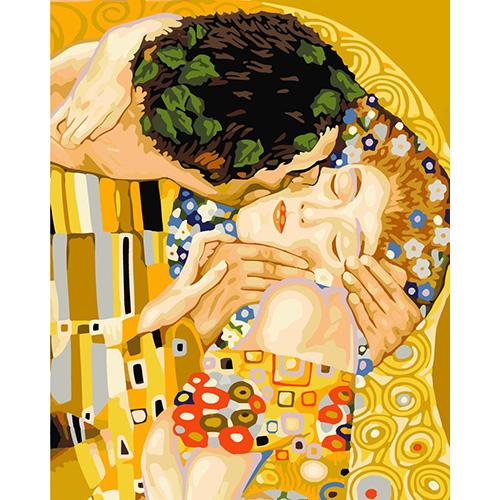 HS0156 Набор для рисования по номерам 'Поцелуй' 40*50см