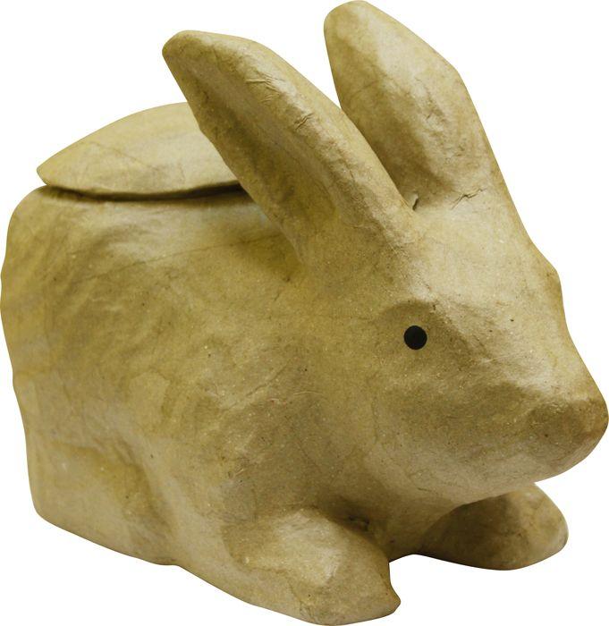 Фигурка из папье-маше, объемная, ср, кролик/ваза 12*25*19 см