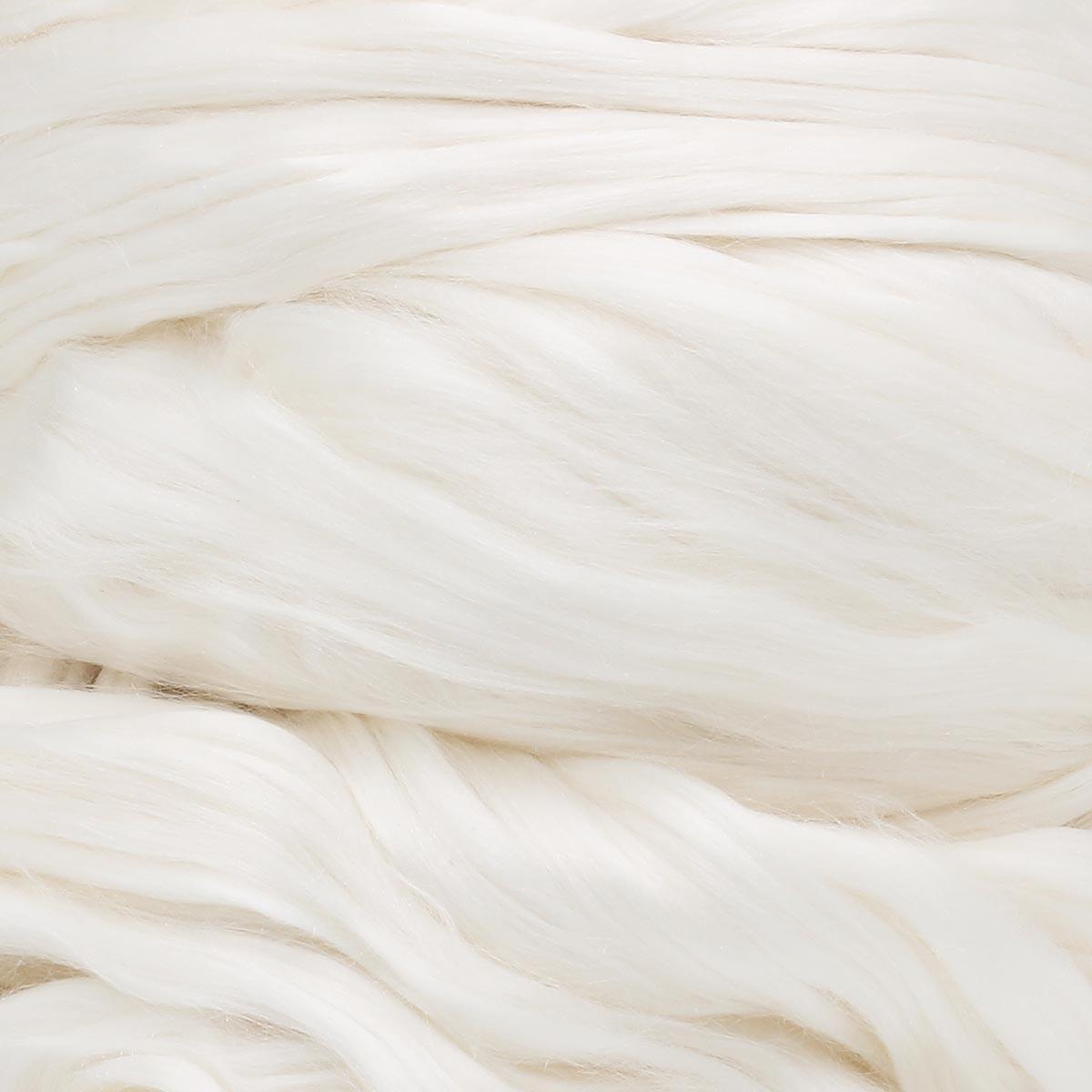 Шерсть для валяния натуральный шелк 100%, 50 гр.