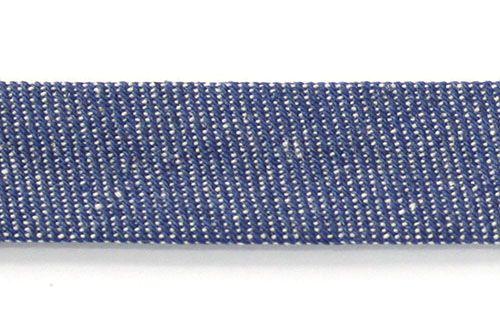 Косая бейка джинсовая х/б, 15мм*100м
