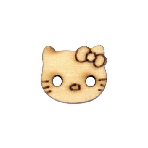 BUTT12583 Пуговица 'Кошка' деревянная