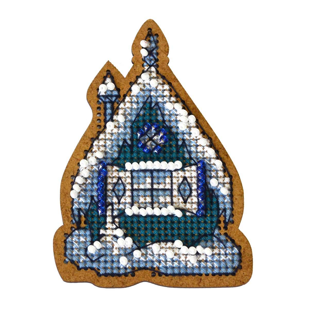 ИК-001 Набор для вышивания крестом на основе Созвездие 'Новогодняя игрушка 'Теремок' 4,5*8см