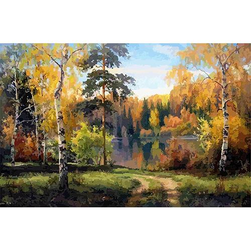 HS0199 Набор для рисования по номерам 'Ясный лес' 40*50см