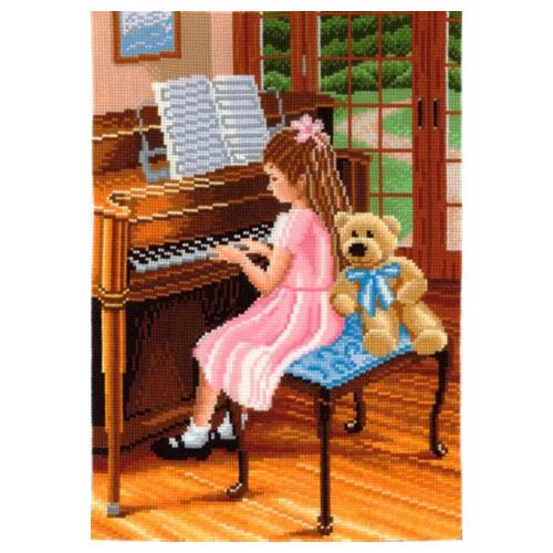 П-28 Набор для вышивания 'Пианистка', 22*30 см