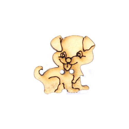 Пуговица 'Собака'BUTT14002 деревянная