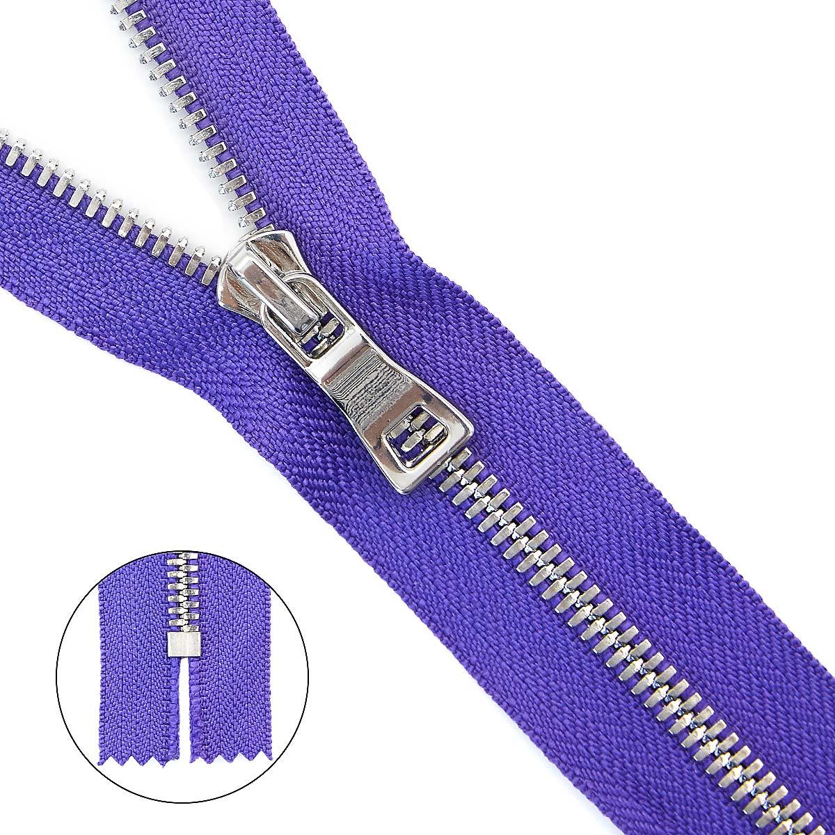 Молния металл №5СТ (Декор) никель н/раз 18см D559 фиолет, 2135001291992