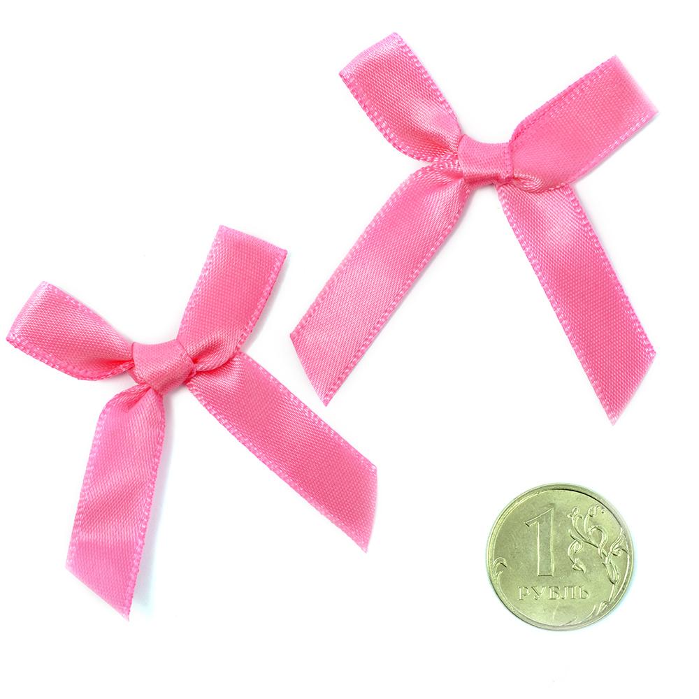 Бантики пришивные арт.MJ.RF.070.12 3,5см цв.12 розовый уп.100шт, MJRF070122
