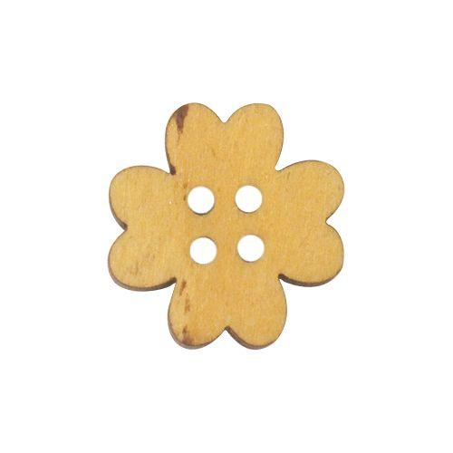 Пуговица 'Цветочек'BUTT14004 деревянная