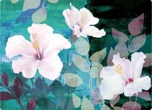 QSIPM029M Декупажная бумага рисовая 'Цветок любви', плотность 25г/кв.м, 50х70см Renkalik