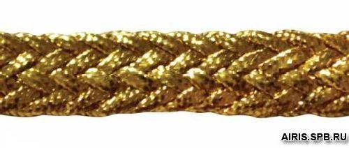 С936 Тесьма плетеная отделочная, золото, 5 мм*30 м