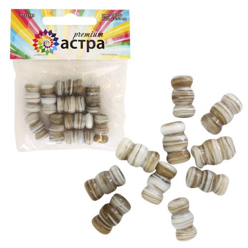3362 Бусины стеклянные, 18*9 мм, упак./10 шт., Астра Premium