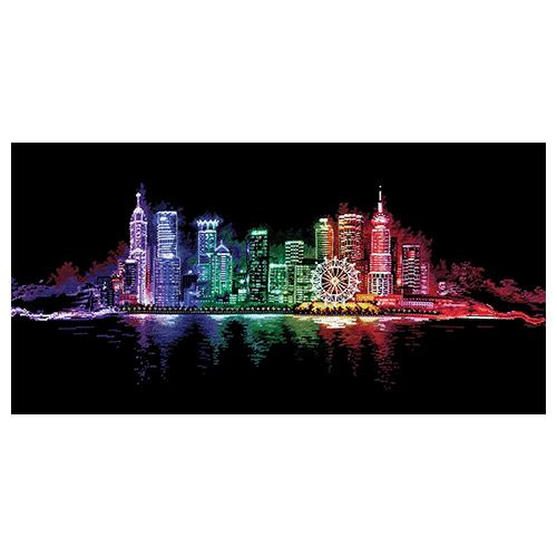 Н-16 Набор для вышивания 'Ночной город', 100*45 см