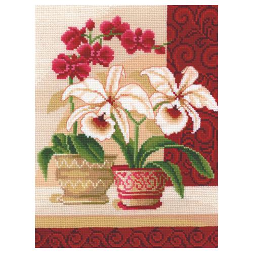 И-01 Набор для вышивания 'Изящные орхидеи', 20*25 см