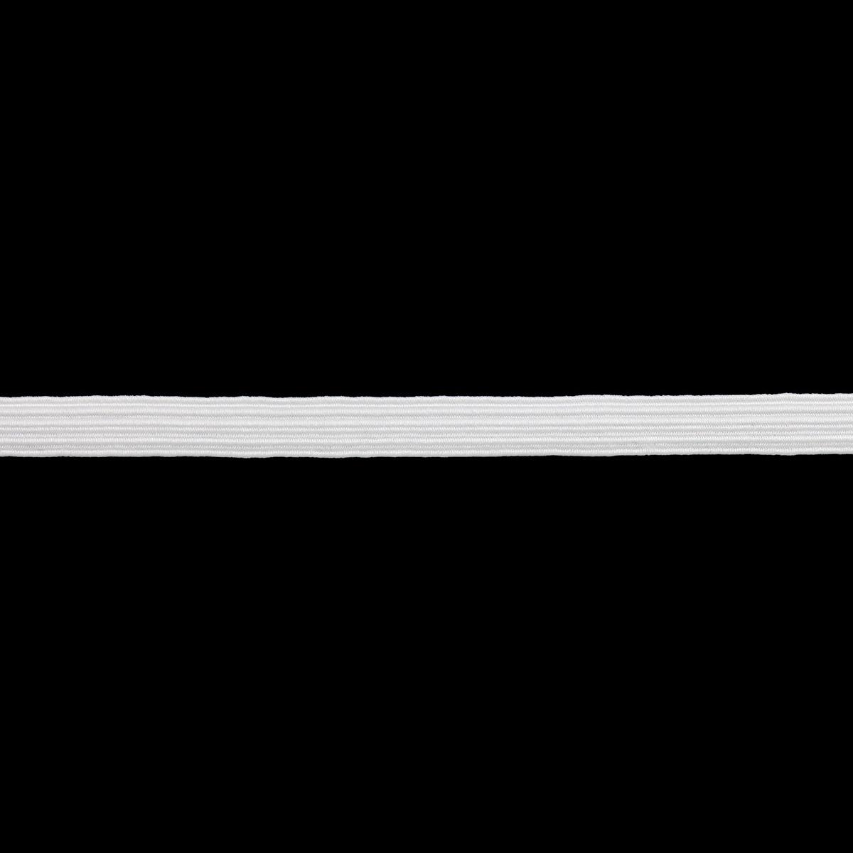 1С27 Тесьма эластичная 7мм 10м белая
