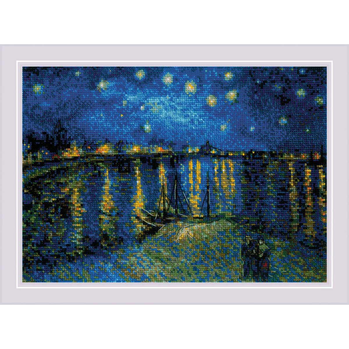 1884 Набор для вышивания Риолис ''Звездная ночь над Роной' по мотивам картины В. Ван Гога'38*26см