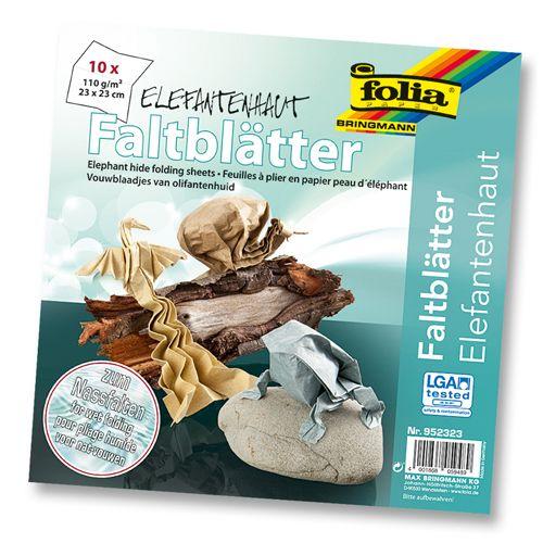 952323 Бумага Elephant для оригами с увлажнением, 110 г/м?, 23*33 см, упак./10 листов, Folia