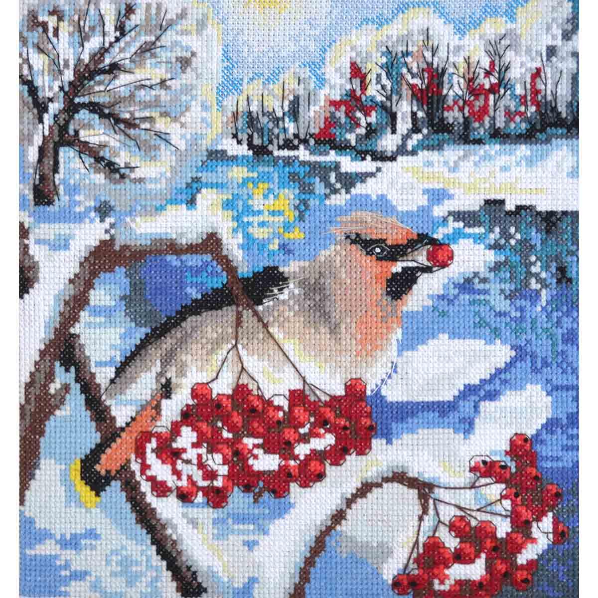 К-100 Наборы для вышивания нитками Созвездие 'Зима' 20*20см