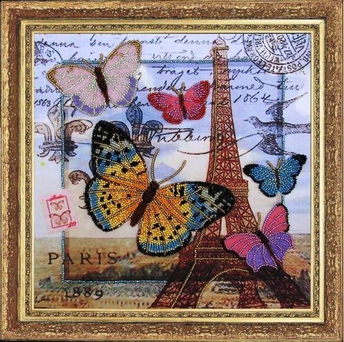 107 Набор для вышивания бисером Butterfly 'Привет из Парижа', 26*26 см