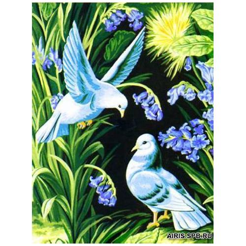 MRC1531-265 Канва с рисунком MARGOT 'Голуби' 40*50 см