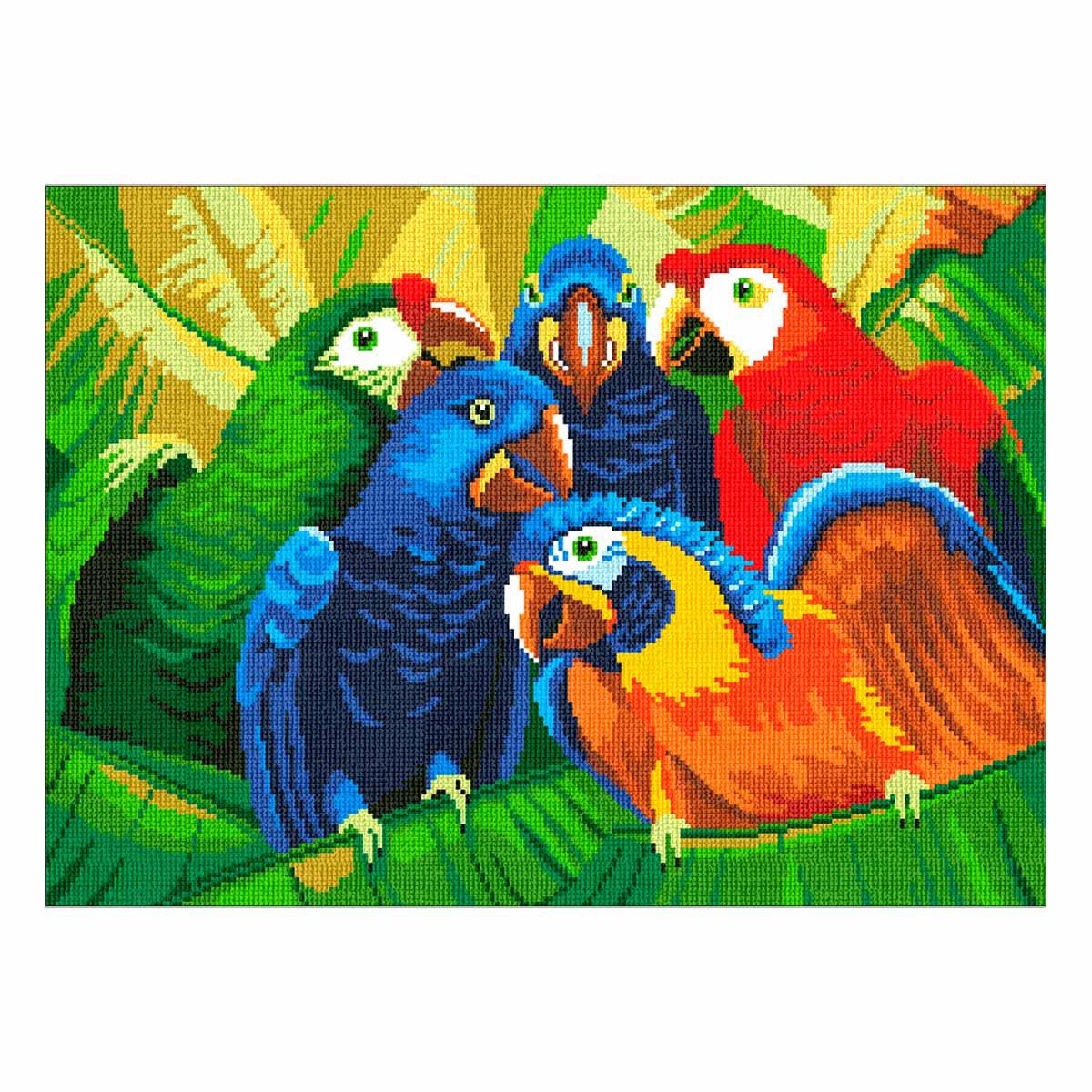 0288 Набор для вышивания 'Попугаи' 37х27см