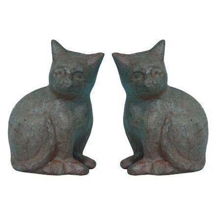 Фигурка из папье-маше, объемная, мал, кошки уп.2шт. 9*18,5*13см